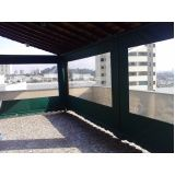 cortinas retrateis com visor transparente no Jardim Guarau